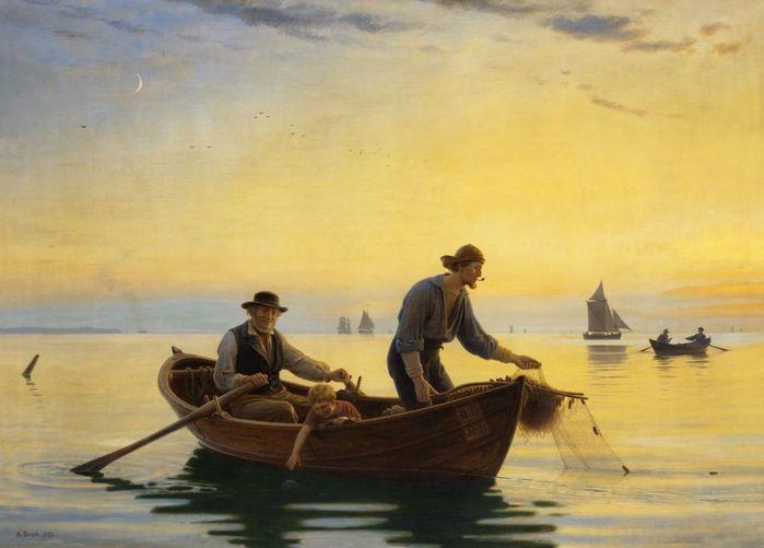 трое в лодке и на берегу